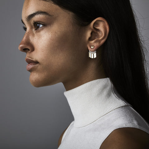 Raya Ear Jackets By Jenny Bird in Two Tone