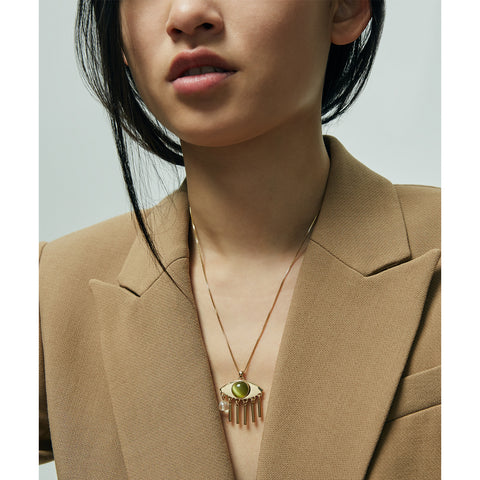 The La Fille Pendant by Jenny Bird in High Polish Gold