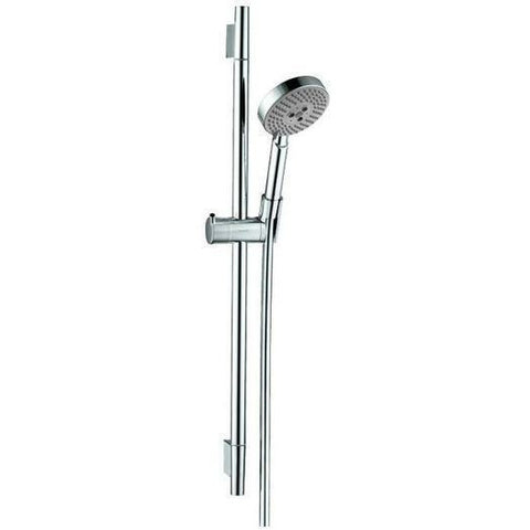 Hansgrohe Kit FixFit Wall Outlet + Unica S 24 Inch Wallbar + S Thermostatic Trim And Rough-In iBox Chrome - Wholesale Home Improvement Products