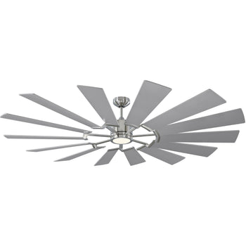 "Monte Carlo - 72"" Prairie Grand Ceiling Fan- Brushed Steel"