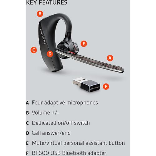 Plantronics Voyager 5200 Uc Bluetooth Headset System Wholesale Home