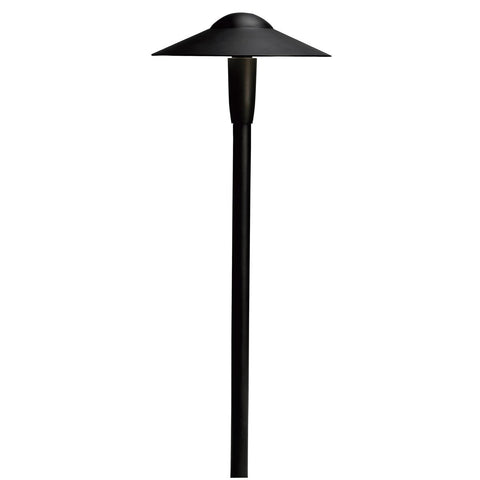 "Kichler - 8"" Dome Short Stem 12V Path Light Textured Architectural Bronze - Wholesale Home Improvement Products"