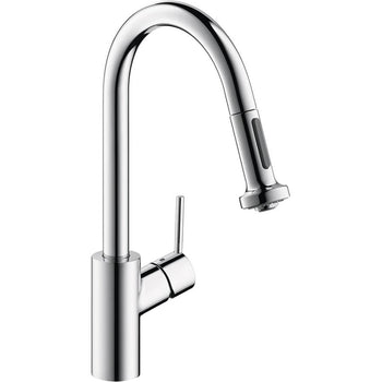 Hansgrohe Talis S 2-Spray HighArc Kitchen Faucet W/ Pull Down, 1.75 GPM 14877001, Chrome - Wholesale Home Improvement Products
