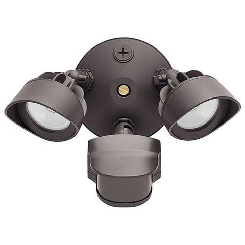 Kichler - C-Series 5000K 2-Light Security Floodlight with Motion Sensor Bronze - Wholesale Home Improvement Products