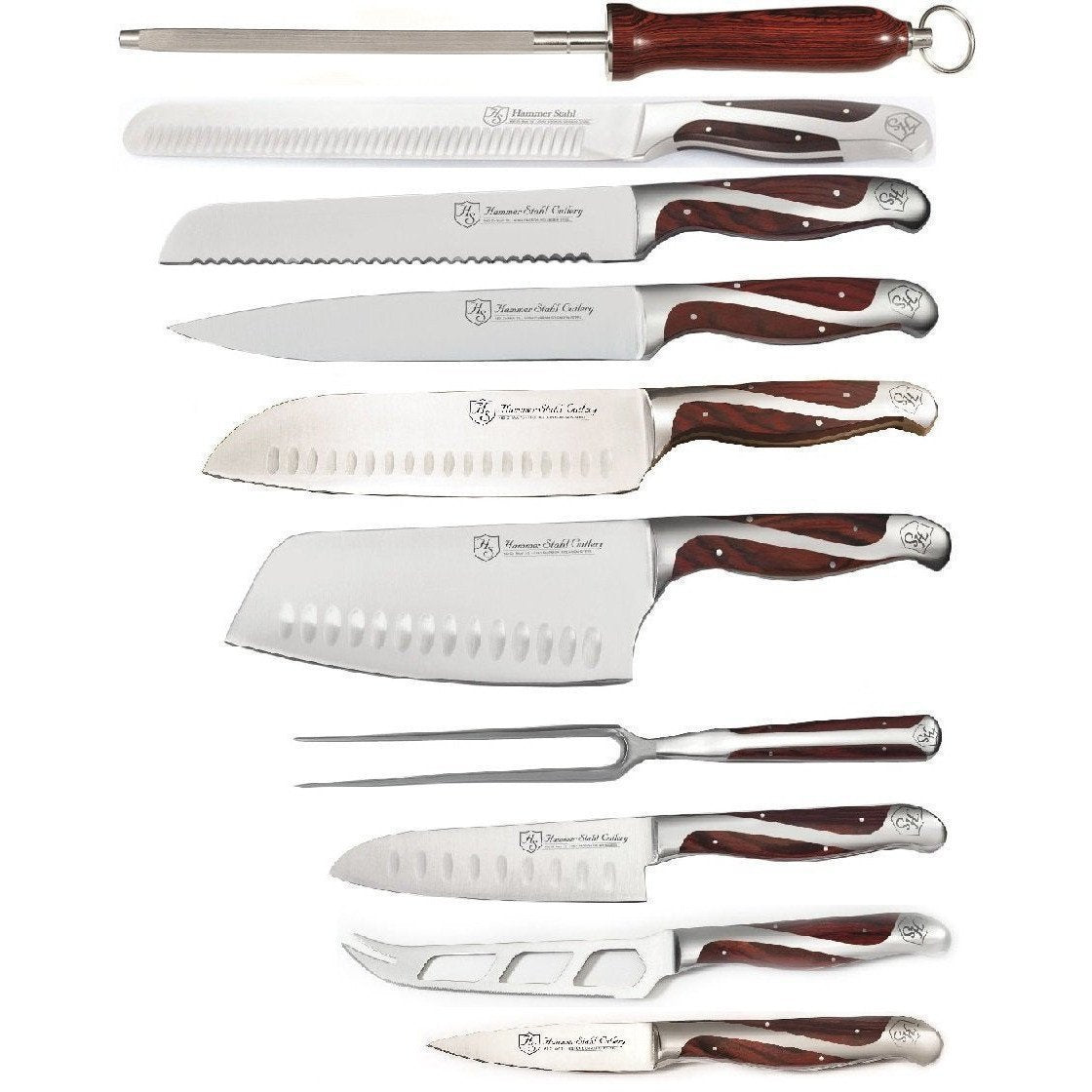 Hammer Stahl - 21 Piece Classic Collection Knives and Block Set