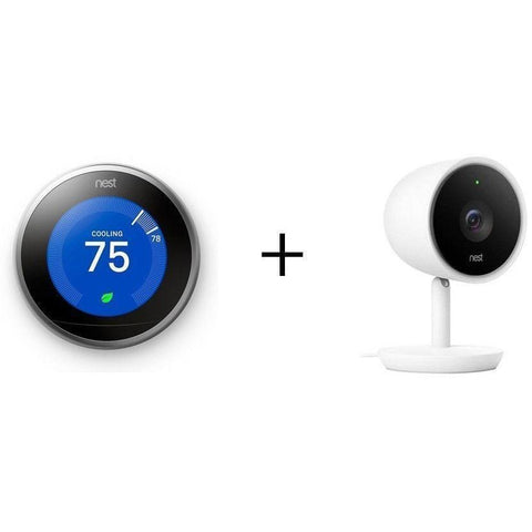 NEST Smarter Bundle: NEST Learning Thermostat + NEST Indoor IQ Cam - Wholesale Home Improvement Products