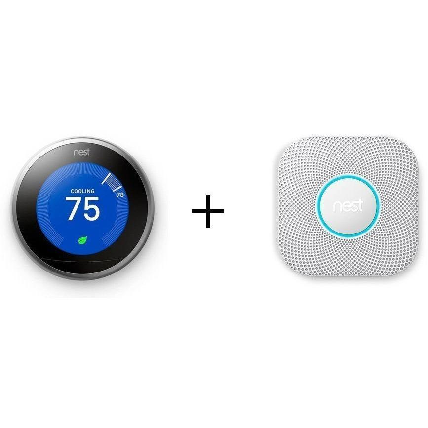 NEST Smarter Bundle: NEST Learning Thermostat + NEST Protect 2nd Gen. Multi-Sensor (Hardwired)
