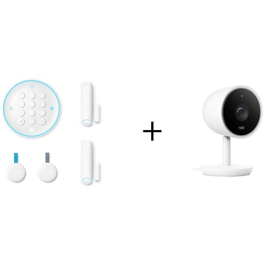 NEST Smarter Bundle: NEST Secure Starter Kit + NEST Cam IQ Indoor Camera