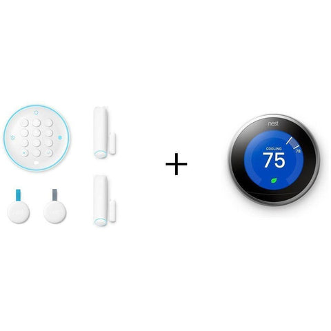 NEST Smarter Bundle: NEST Secure Starter Kit + NEST Learning Thermostat - Wholesale Home Improvement Products