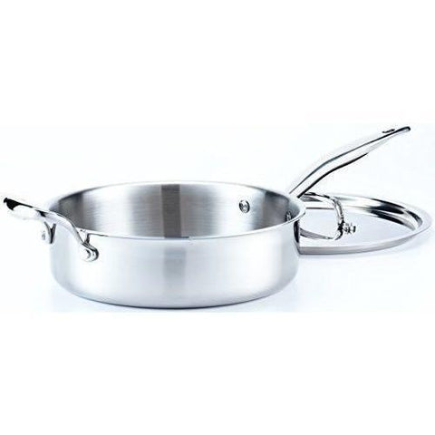 Hammer Stahl - 4 Quart Deep Saute Pan with Cover - Wholesale Home Improvement Products