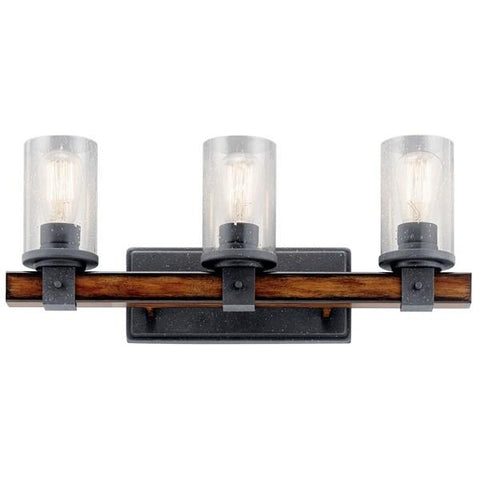 Kichler - Barrington 3 Light Vanity Light Distressed Black - Wholesale Home Improvement Products