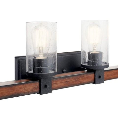 Kichler - Barrington 4 Light Vanity Light Distressed Black - Wholesale Home Improvement Products