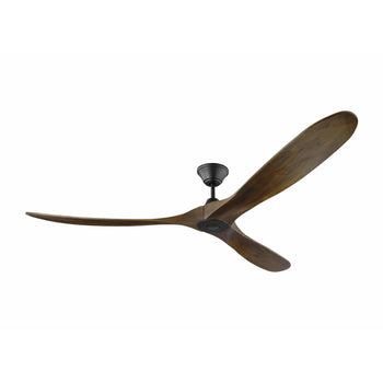 "Monte Carlo - 70"" Maverick Max Ceiling Fan - Matte Black with Walnut Blades"