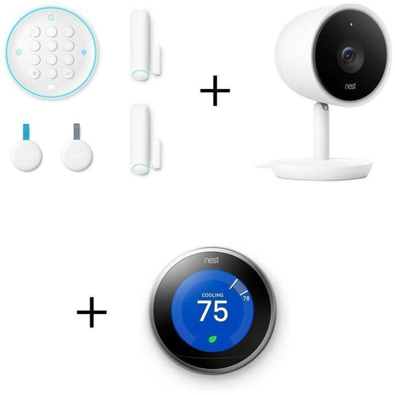 NEST Smarter Bundle: NEST Secure + NEST Cam IQ Indoor Camera + NEST Learning Thermostat (3rd Gen) - Wholesale Home Improvement Products