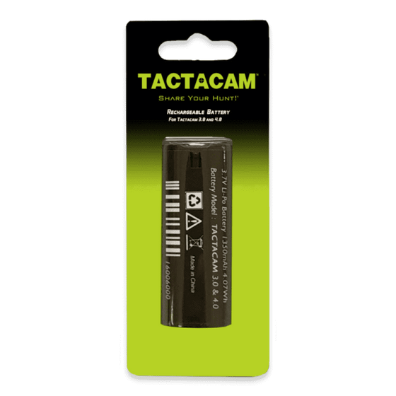 Tactacam Replacement Battery 5.0, 4.0 and Solo Cameras