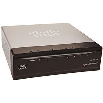 Cisco SG200-08P 8-port (4 Reg + 4 PoE) Gigabit PoE Smart Switch (SLM2008PT-NA) - Wholesale Home Improvement Products