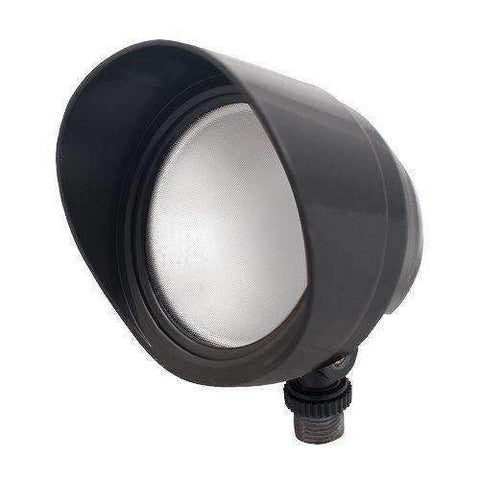 RAB Lighting BULLET12YA LED Bullet Flood, 12W, 800 lm, 3000 K (Warm), Bronze Finish