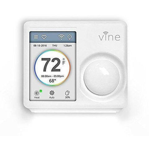 Vine - Smart Wi-Fi Thermostat 7-Day Programmable Thermostat with Touchscreen and Nightlight - TJ 610