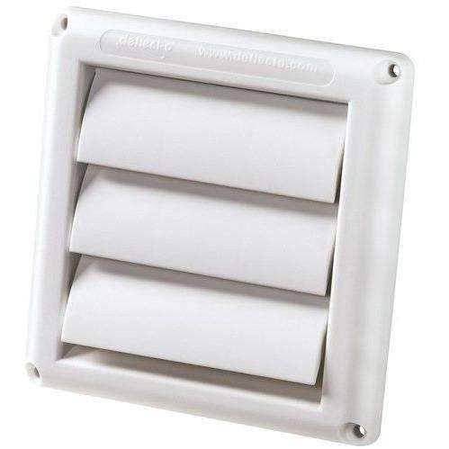 "Deflecto - HSF4W 4"" Fan Vent, White"
