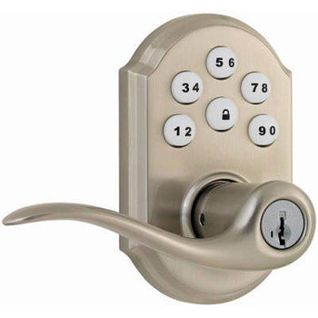 Kwikset SmartCode Electronic Lock with Tustin Lever Featuring SmartKey
