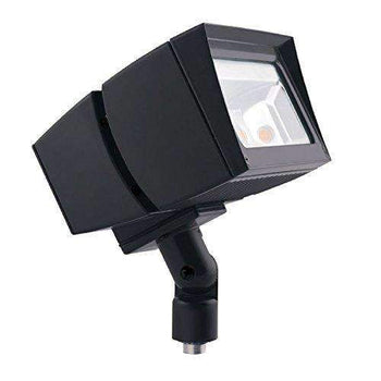 RAB Lighting FFLED26 LED Floodlight, NEMA 7H x 6V Beam Spread, Arm Mounted, Standard Type, 5000 K (Cool) Color Temp, 26W, Bronze Finish