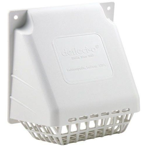 "Deflecto - HR4W 4"" Dryer Vent, White - Wholesale Home Improvement Products"