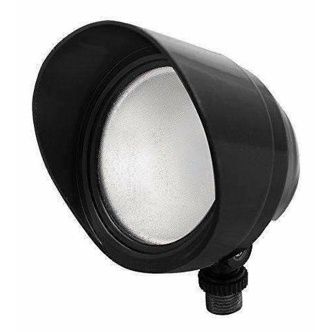 RAB Lighting BULLET12NB LED Floodlight, 12W, 120V, 4000K, Black