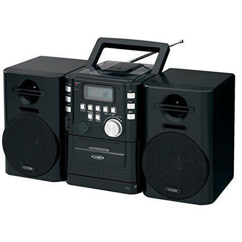 Jensen CD-725 Portable Boombox CD Cassette Player & FM Stereo Radio - Wholesale Home Improvement Products