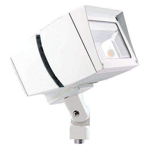 RAB Lighting FFLED39NW/480 FFLED 39W LED Floodlight, 4000 K (Neutral) Color Temp, Arm Mounted, Standard Type, White Finish