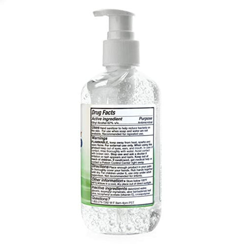 TriDerma - Moisturizing Hand Sanitizer 62% Ethyl Alcohol 8 Ounces