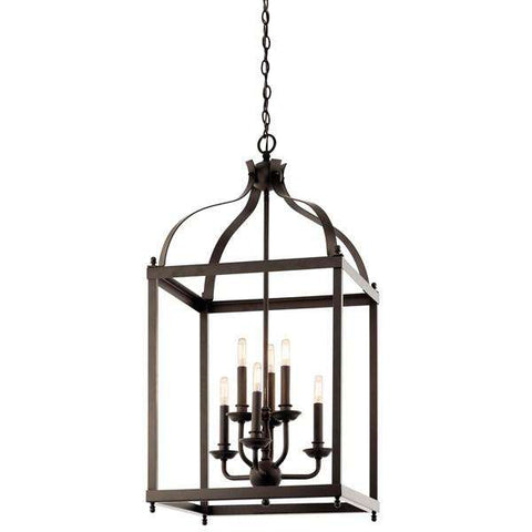 Kichler - Larkin 6 Light Foyer Pendant Olde Bronze - Wholesale Home Improvement Products