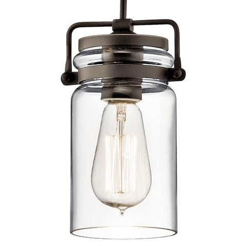 Kichler - Brinley™ 1 Light Mini Pendant in Olde Bronze - Wholesale Home Improvement Products