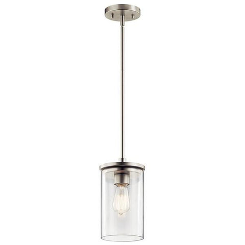 Kichler - Crosby 1 Light Mini Pendant Brushed Nickel - Wholesale Home Improvement Products