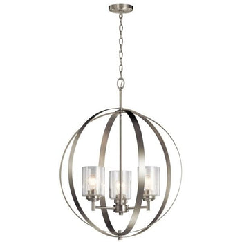 Kichler - Winslow™ 3 Light Chandelier Brushed Nickel - Wholesale Home Improvement Products