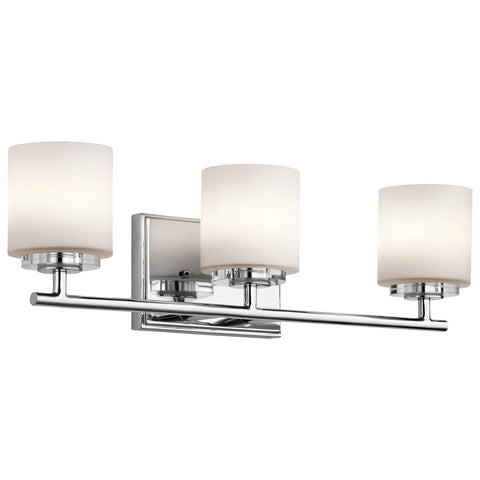 Kichler - O Hara 3 Light Vanity Light Chrome - Wholesale Home Improvement Products