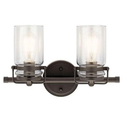 Kichler - Brinley™ 2 Light Vanity Light - Olde Bronze - Wholesale Home Improvement Products