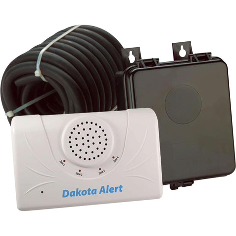 Dakota Alert DCRH-2500 Wireless Rubber Hose Vehicle Sensor, White Black - Wholesale Home Improvement Products