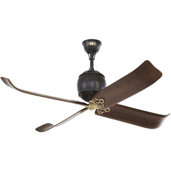 "Monte Carlo - 60"" Giarre - Antique Iron with Hand-Rubbed Antique Brass - Ceiling Fan"