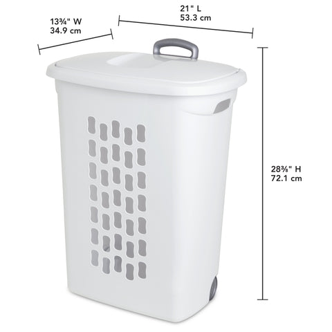 Sterilite Ultra Wheeled Laundry Hamper, White - Wholesale Home Improvement Products