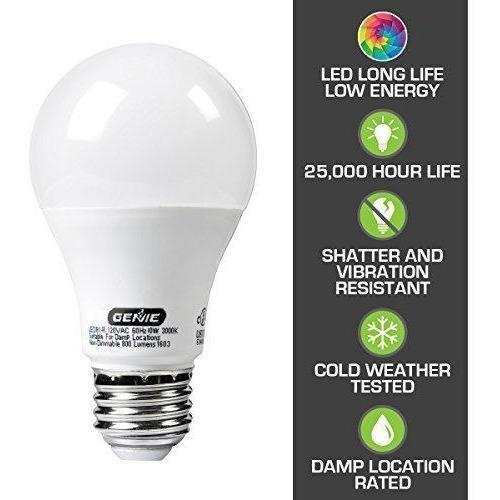 Genie LED Garage Door Opener Light Bulb - 60 Watt (800 Lumens) – LEDB1-R