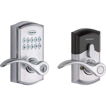 Kwikset SmartCode 955 Keypad Electronic Lever Door Lock Deadbolt Alternative w/ Pembroke Door Handle Lever, - Wholesale Home Improvement Products