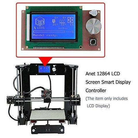 Anet 12864 LCD Smart Display Screen Controller Module with 2Pcs 5Pin Flexible Flat Ribbon Cable for Anet A6 A2 E10 E12 Reprap Mendel I3 3D Printer Kit Accessory Part - Wholesale Home Improvement Products