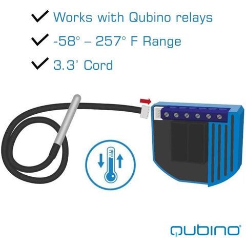 Qubino Temperature Sensor - ZMNHEA1 for Qubino Z-Wave Modules