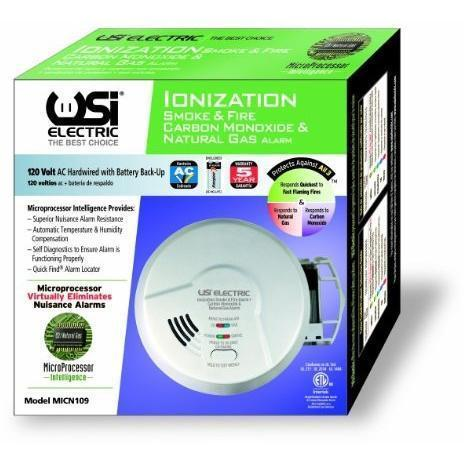 USI Electric - MICN109 Hardwired 3-in-1 Smoke, Carbon Monoxide and Natural Gas Alarm - Wholesale Home Improvement Products