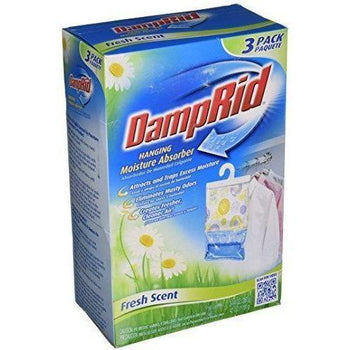 DampRid - Hanging Moisture Absorber, Fresh Scent, 3 Pack, 14-oz bags (42 oz.) - Wholesale Home Improvement Products