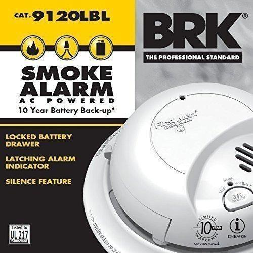 Brk First Alert 9120lbl Hardwired Alarm 10 Year Battery