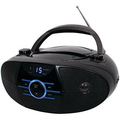 JENSEN CD-560 Portable Stereo CD Player with AM/FM Stereo Radio & Bluetooth(R) - Wholesale Home Improvement Products
