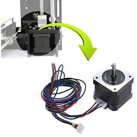 Anet Stepper Motor for 3D Printer DIY CNC Robot, 1.8 Degree 0.9A 0.4N.M 42mm Stepper Stepping Motor Drive with 90cm Lead Cable for 3D printer - Black (5PCS) - Wholesale Home Improvement Products