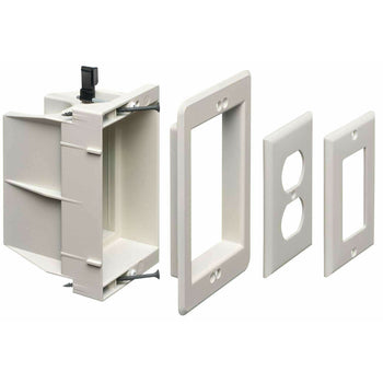 Arlington DVFR1W Recessed Electrical/Outlet Mounting Box, Single Gang - Wholesale Home Improvement Products