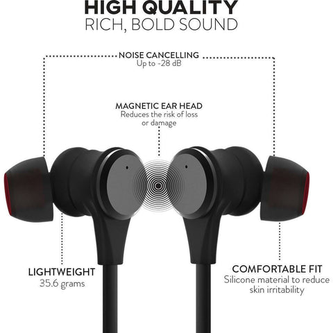 SGNL HB-N50 Bluetooth Headphones Earbuds - Active Noise Cancelling & Open Ear